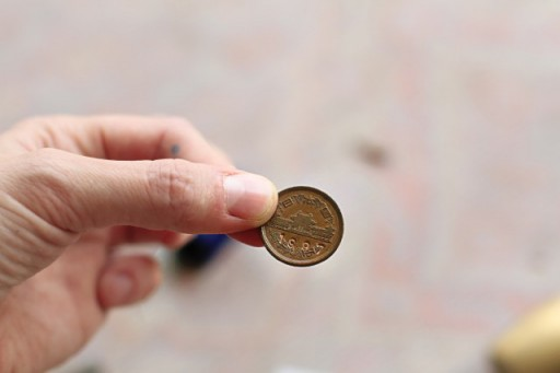 Metal Stamping into a Coin via lilblueboo.com
