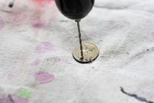 How to Drill a Hole into a Coin via lilblueboo.com