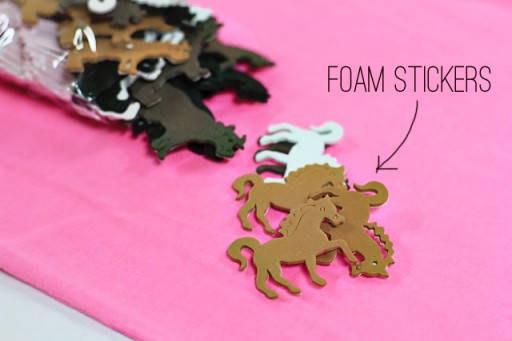 Stamping Fabric and Paper with Foam Stickers via lilblueboo.com