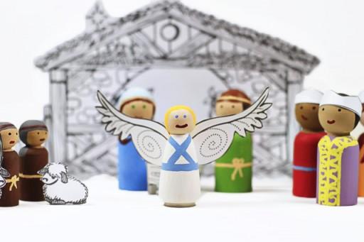 How to make angel peg doll via lilblueboo.com