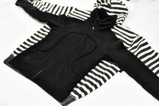 Making a pattern from an old sweatshirt via lilblueboo.com