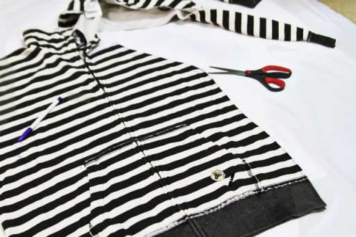 DIY Sweatshirt refashion tutorial via lilblueboo.com