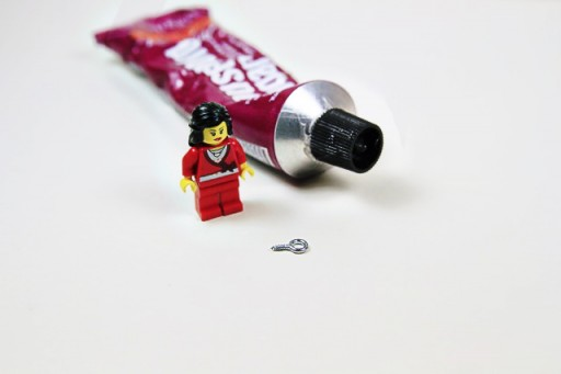 DIY Lego Mini Figure Pendant (materials needed) via lilblueboo.com