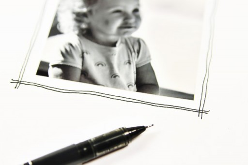 Creative Art Journal Doodling on Photos via lilblueboo.com #artjournaling #scrapbooking #theliljournalproject