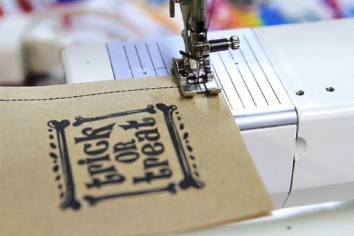Sewn Paper Treat Bags via lilblueboo.com