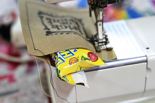 How to sew paper treat bags via lilblueboo.com (free printable)
