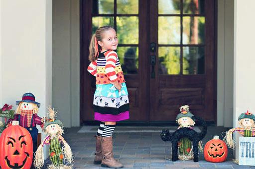 Sienna Upcycled Dress into Bubble Dress via lilblueboo.com