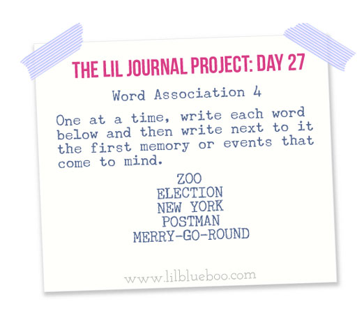 The Lil Journal Project Day 27 via lilblueboo.com