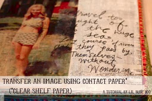 Transfer an Image using Contact Paper via lilblueboo.com