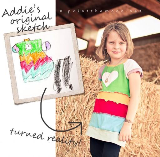 Pieced Bubble Dress DIY via lilblueboo.com