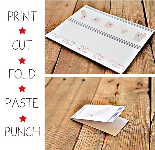 Making the DIY States and Capitals Flashcards by Pen and Paint via lilblueboo.com #teachers