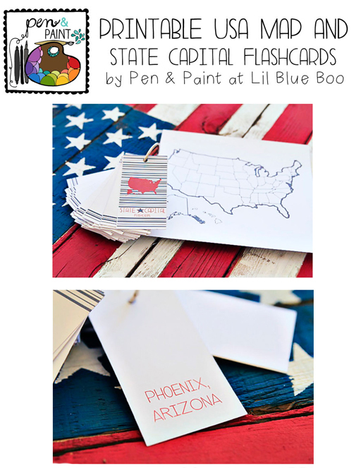 photo about State and Capitals Flash Cards Printable identified as Printable United states of america Map and Region Cash Flashcards