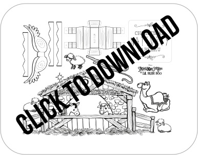 Christmas Nativity Download Free PDF Download for Limited Time via lilblueboo.com