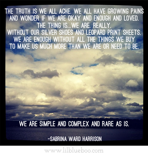 Sabrina Ward Harrison quote via lilblueboo.com