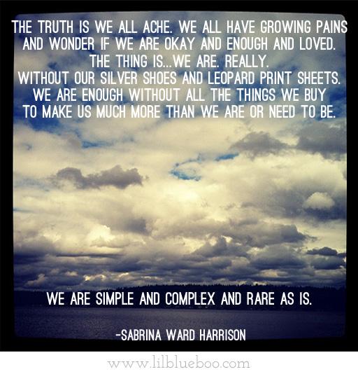 Sabrina Ward Harrison quote via lilblueboo.com