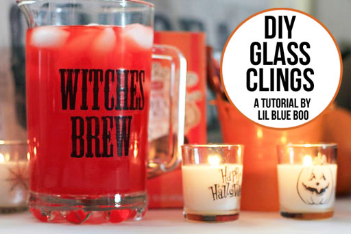 diy glass cling tutorial via lilblueboo.com