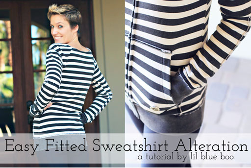 diy sweatshirt tutorial via lilblueboo.com