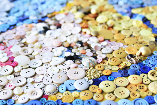 How to Make a Button Art Collage | Lil Blue Boo