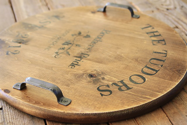 Make A Wine Barrel Inspired Tray