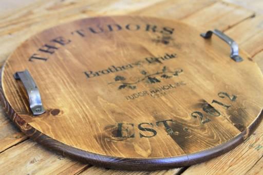 Handmade Gift Ideas: vintage distressed Wine Barrel Top via lilblueboo.com