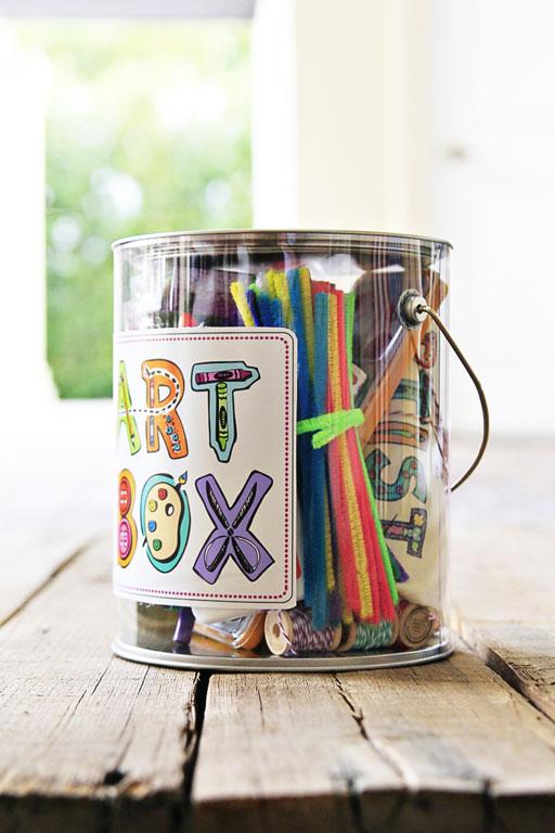 DIY Art Box and Free Artwork Download by Stephanie Corfee via lilblueboo.com
