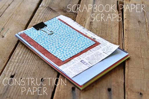 What to put in art box: paper scraps via lilblueboo.com