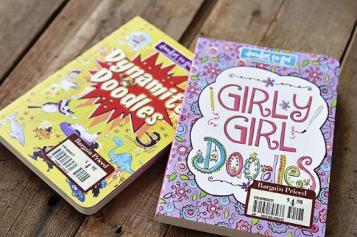 Great bargain doodle books for kids from Barnes and Noble via lilblueboo.com