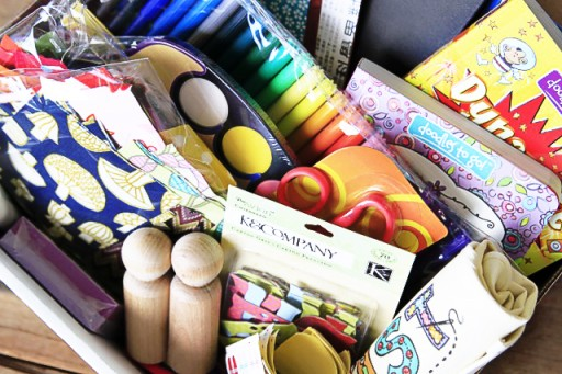 List of Craft Supplies for Kids via lilblueboo.com