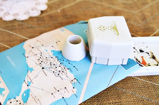 Things to make with maps via lilblueboo.com #diy #doily #marthastewart