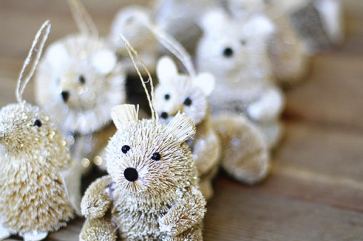 Woodland Critter Ornaments from Michaels via lilblueboo.com