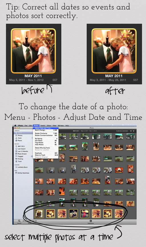 Tip for sorting photos: correct the date via lilblueboo.com