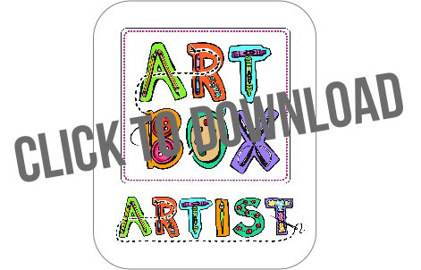DIY Art Box and Free Artwork Download by Stephanie Corfee via lilblueboo.com