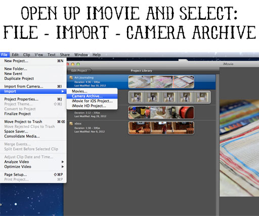 How to import MPEG videos into iMovie '09 and iMovie '11 by mirroring folders via lilblueboo.com