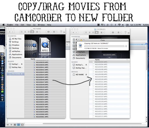 How to import HDD Sony video into iMovie '09 and iMovie '11 by mirroring folders via lilblueboo.com
