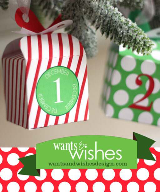 printable christmas countdown advent calendar by wants and wishes via lilblueboo.com