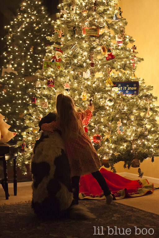 how to take photos of your christmas tree at night via lilblueboo.com