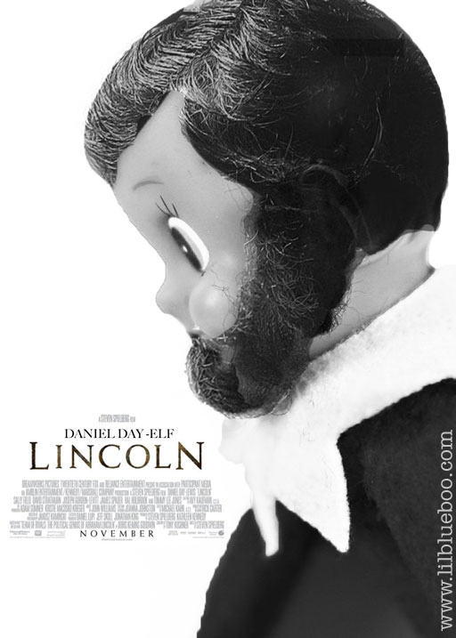 Lincoln Elf on the Shelf via lilblueboo.com