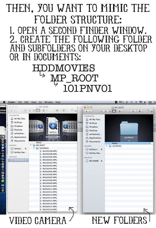 How to import MPEG movies into iMovie '09 and iMovie '11 by mirroring folders via lilblueboo.com