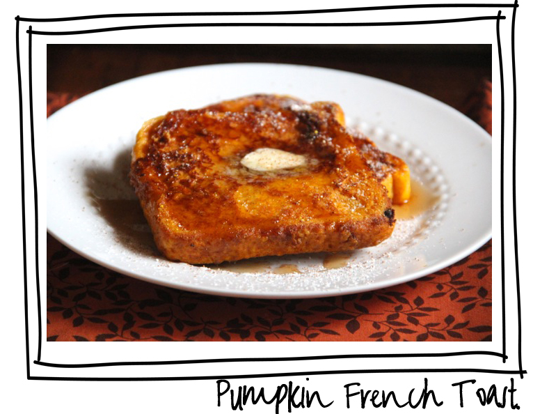 pumpkin french toast recipe via lilblueboo.com
