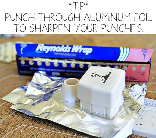 How to sharpen scrapbook punches via lilblueboo.com