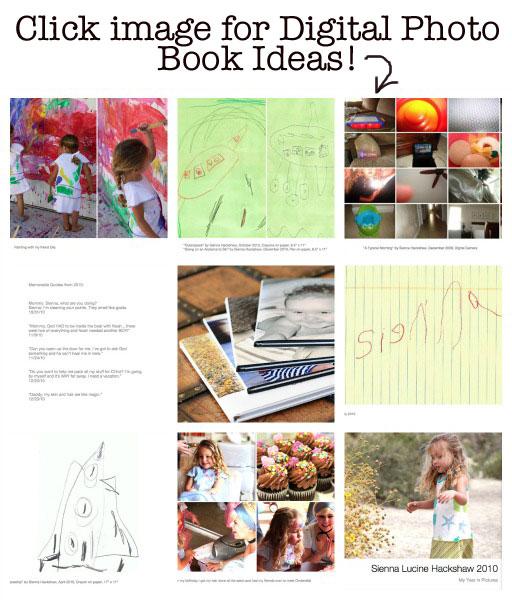 Digital Photo Book Ideas via lilblueboo.com
