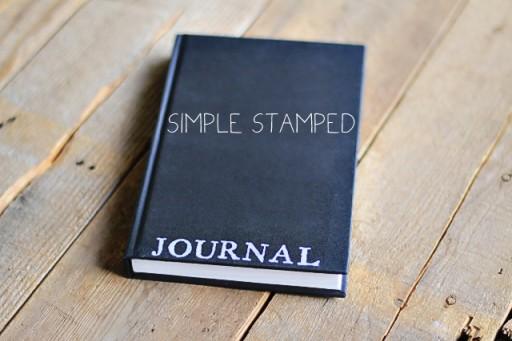 DIY Simple Stamped Journal via lilblueboo.com