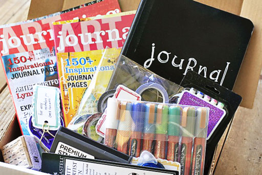 What to put in your journal kits via lilblueboo.com