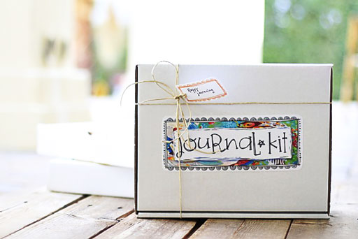 DIY Journal Kit (and Artwork Download by Stephanie Corfee) via lilblueboo.com