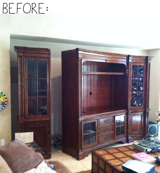 The Extreme Cabinet Makeover (Before) via lilblueboo.com