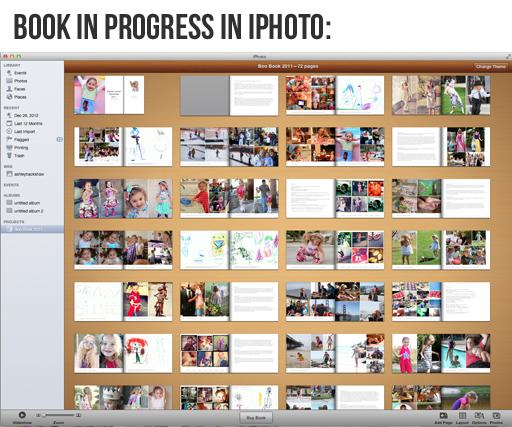 Making a Book in iPhoto via lilblueboo.com