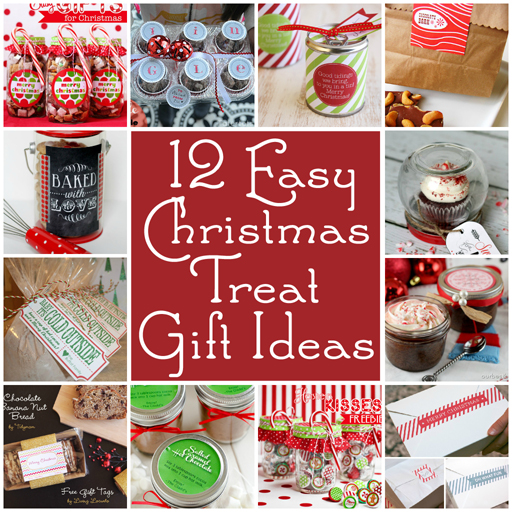 Christmas holiday food gift ideas with free printables via lilblueboo.com