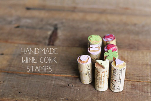 How to Make Wine Cork Stamps via lilblueboo.com