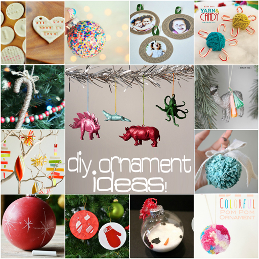 Easy DIY Ornament ideas via lilblueboo.com