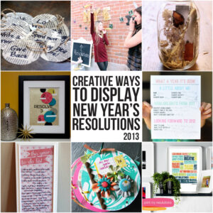 More creative ways to display your New Year's resolutions via lilblueboo.com